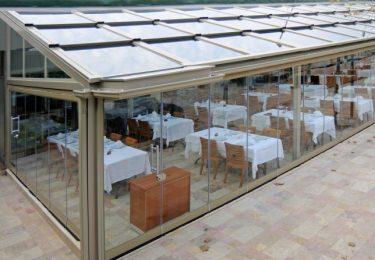 Ganzjähriger Restaurant-Verbau